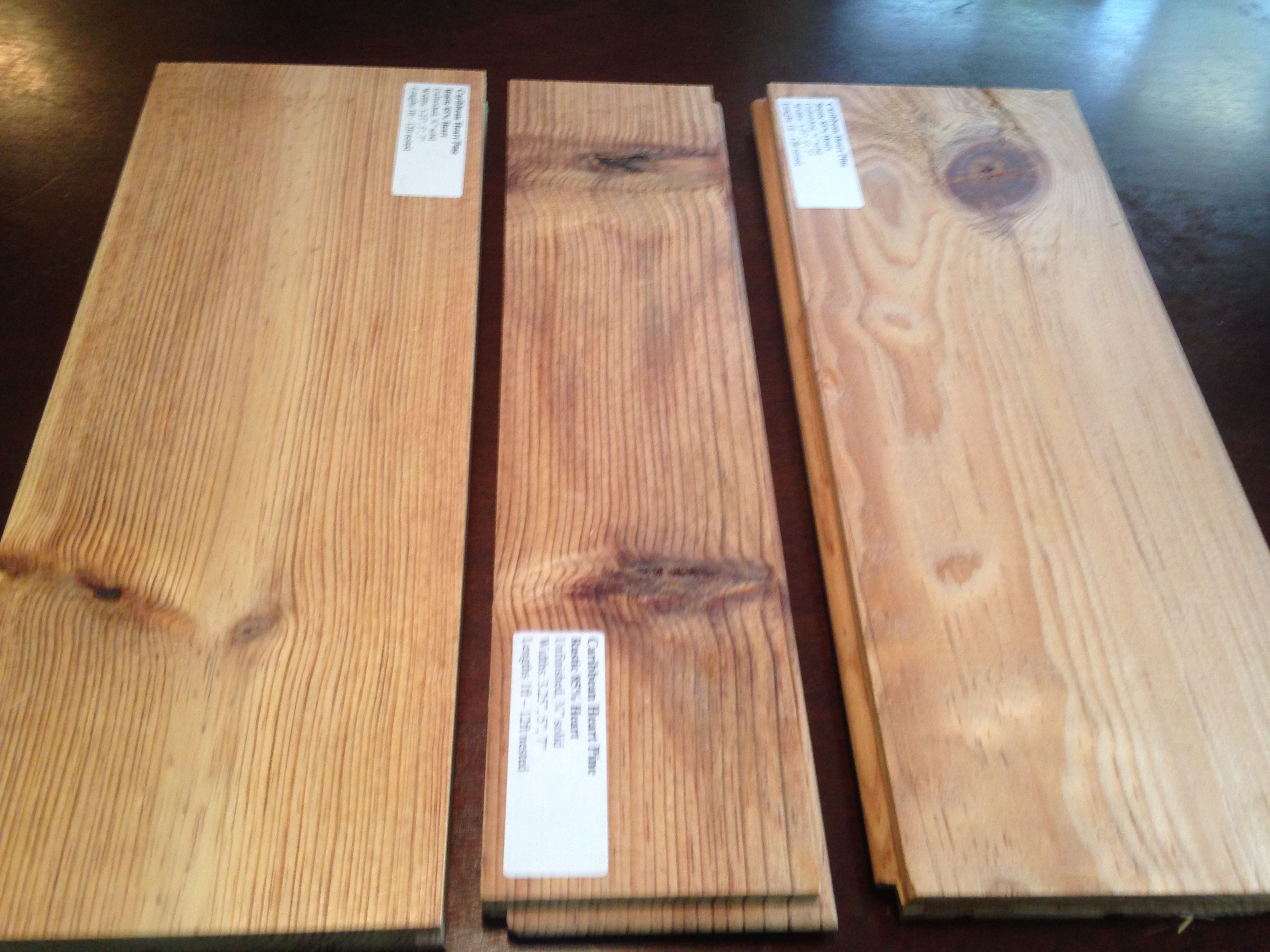 Wide Plank Caribbean Heart Pine Rustic 85 Heartwood Wide Plank Heart Pine Plank
