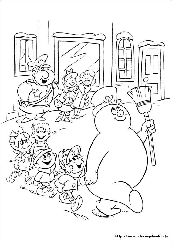 Frosty the snowman coloring picture   Snowman coloring ...