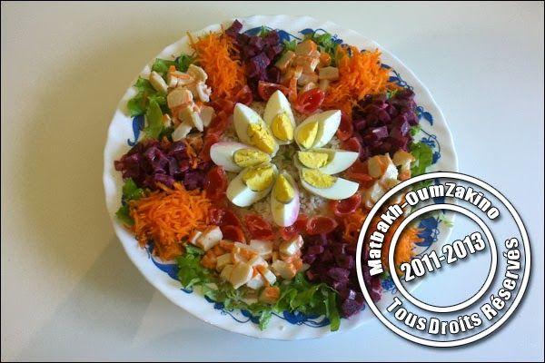 salade compos e id e pr sentation matbakh oumzakino