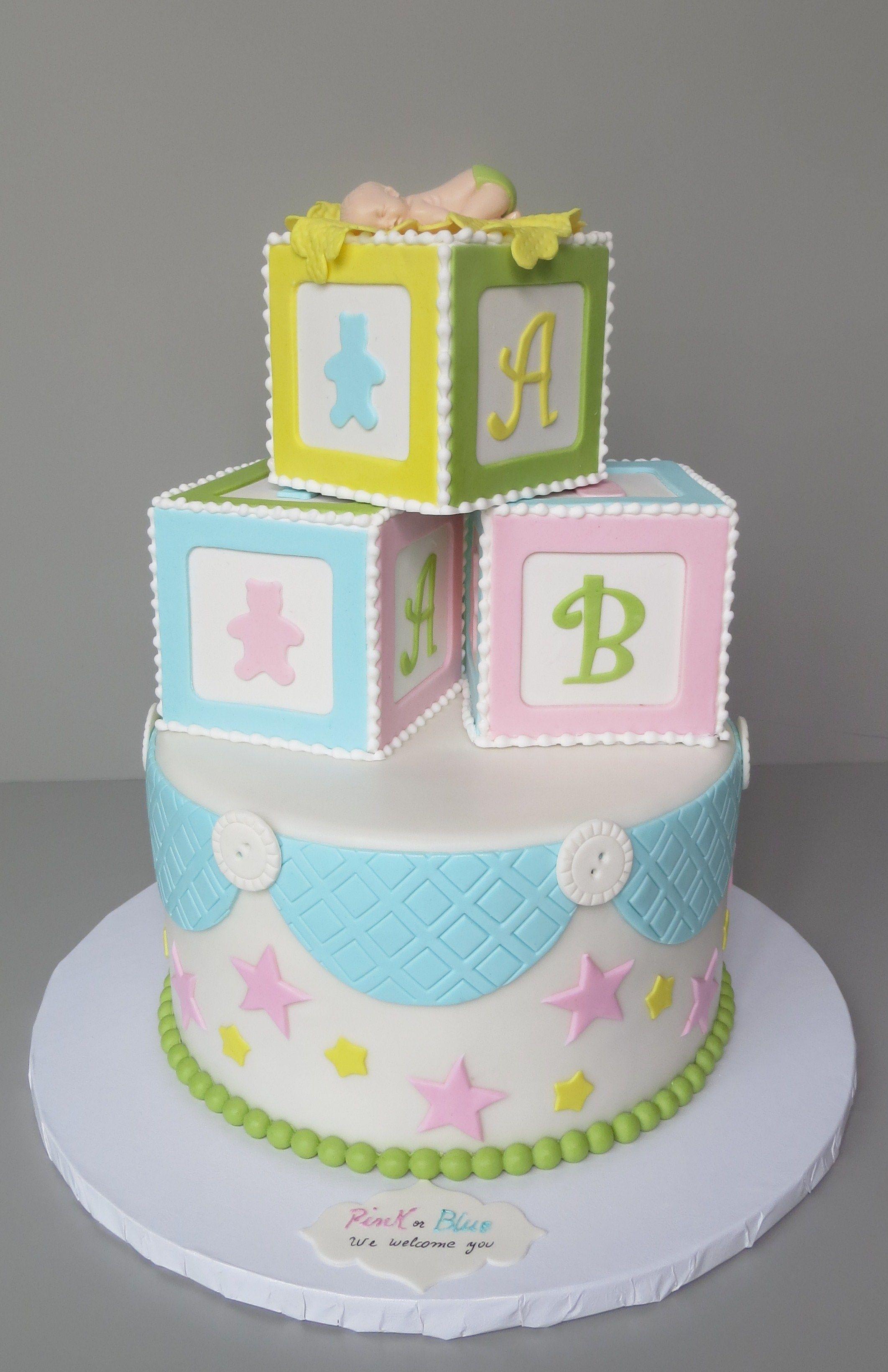 abc blocks baby shower Cakes by Beatriz Pinterest