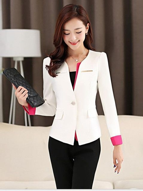 Office Uniform Designs Women Pant Suits Hot Sale Single Button Women Business Suits Formal Office Work Wear Pantsuits For Women Pants For Women Uniform Design