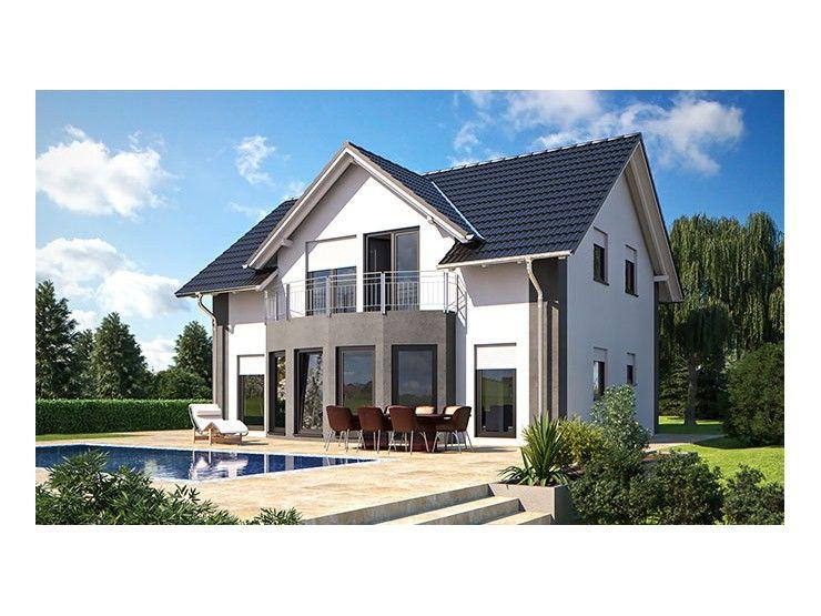 Hausbau modern satteldach  Classic Living 149 - #Einfamilienhaus von Hanlo Haus Vertriebsges ...