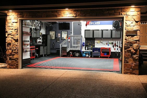 Garagem Interior Da Garagem