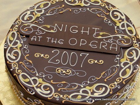 Celebrate a night at the opera desserts cakes chocolate night
