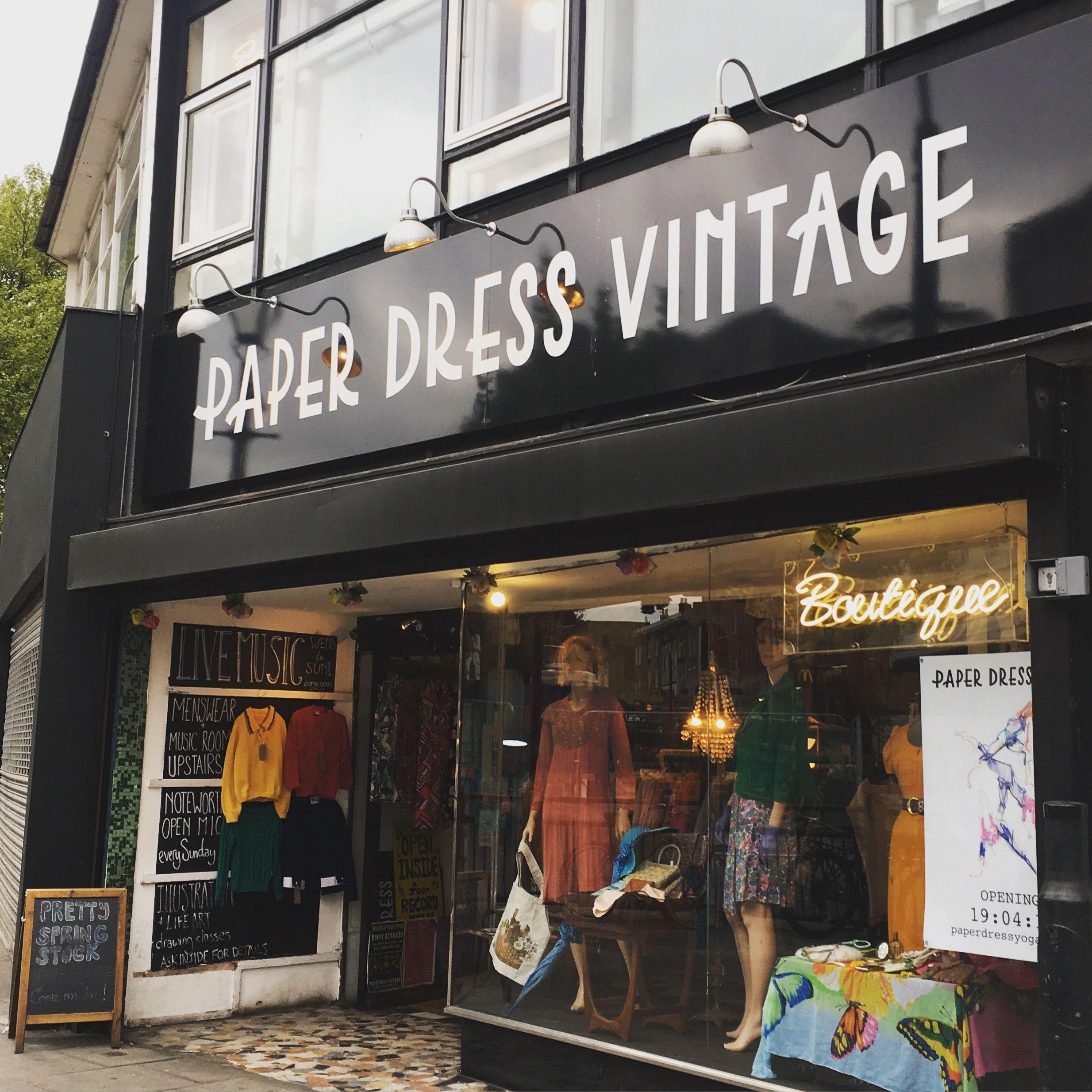 Paper Dress Vintage Hackney London Vintage Clothes Cafe Yoga And Fashion Illustration Classes Hackney London Paper Dress London