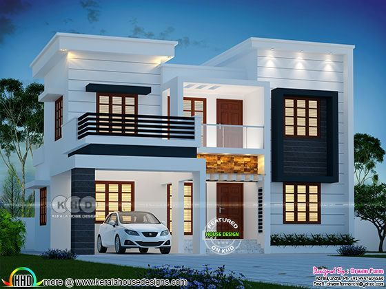 Square feet modern house with bedrooms also   lakhs cost estimated sq ft home in rh pinterest