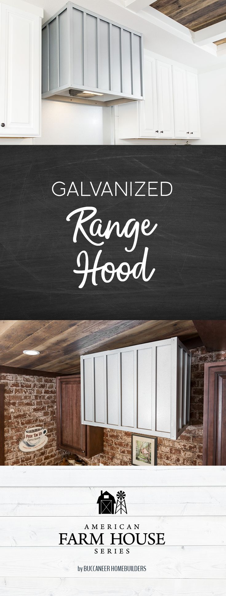 This Unique Galvanized Range Hood Is Hand Made And Comes Standard Inside Each Of Our Lulamae And Avalyn Hom Building A House Pole Barn Homes Manufactured Home