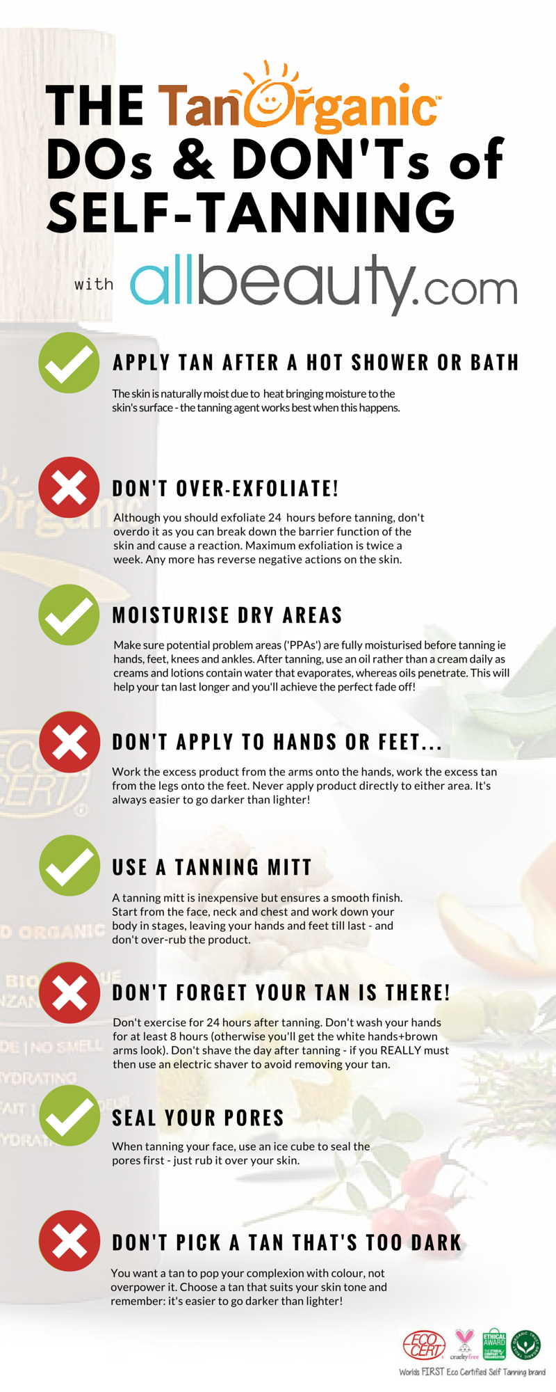 SelfTanning Dos & Don'ts with &