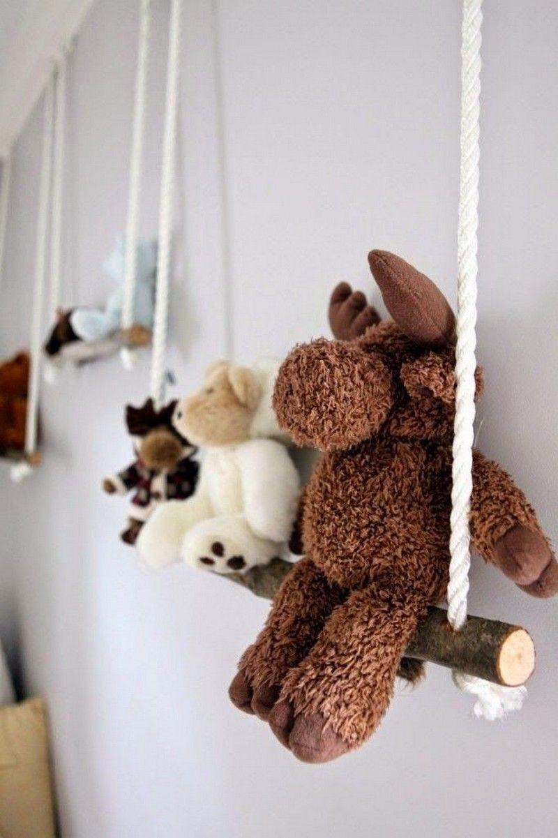 Kinderzimmer wanddekor bild  tolle selbstgemachte schaukel für kuscheltiere  deko haus