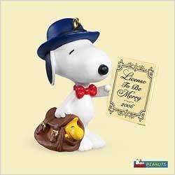 2006 Hallmark Ornaments Spotlight On Snoopy 9 Legal Beagle