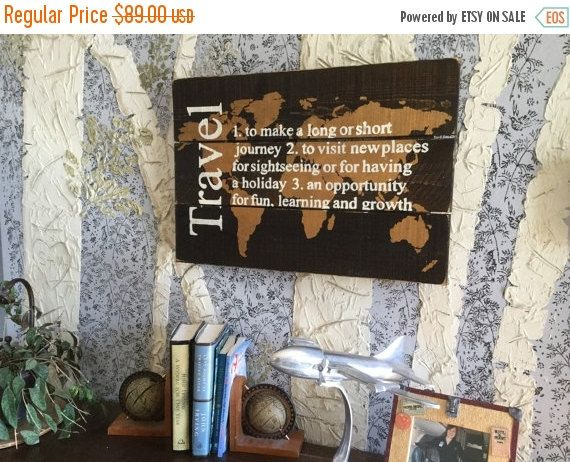 Travel map world travel map rustic wood map travel decor world map travel quote wood map wooden map world map wooden world map map wall hanging map of the world rustic home decor gumiabroncs Choice Image