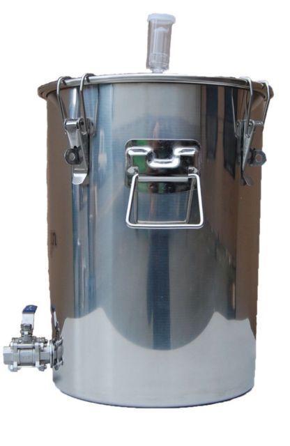 14 Gallon Stainless Steel Fermenter Boil Kettle Ported Homebrew