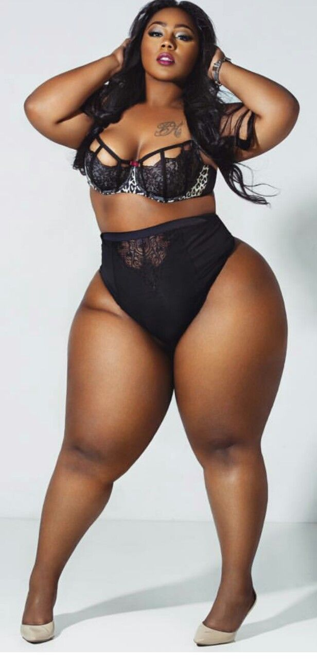 Chubby black women on lingerie can