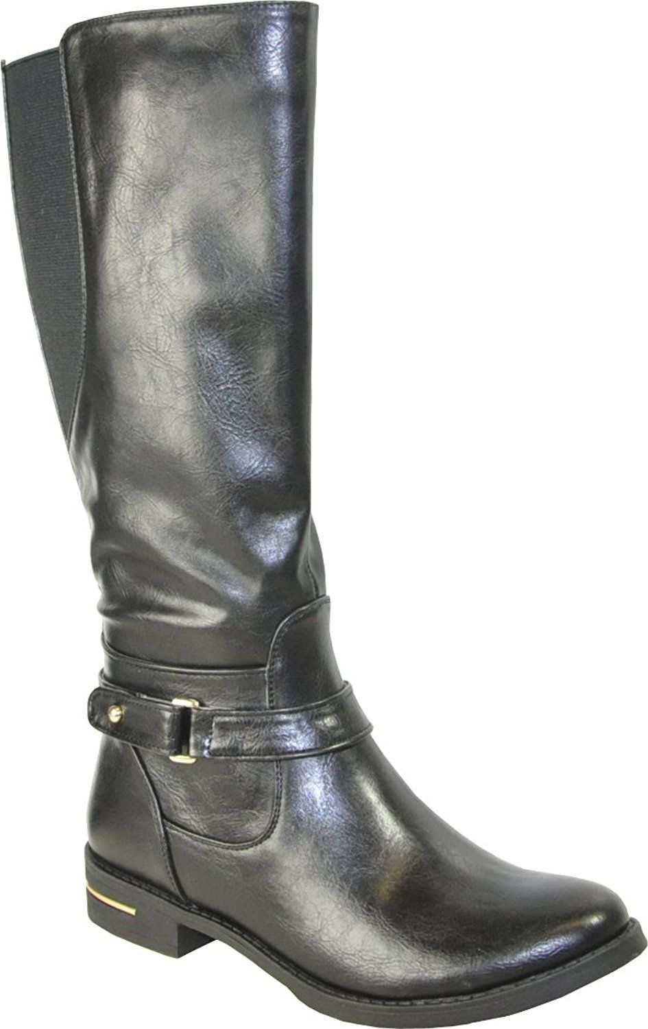 Kozi Women Riding Boot SD5512 Fashion Knee-High With Fur Lining Black 39M