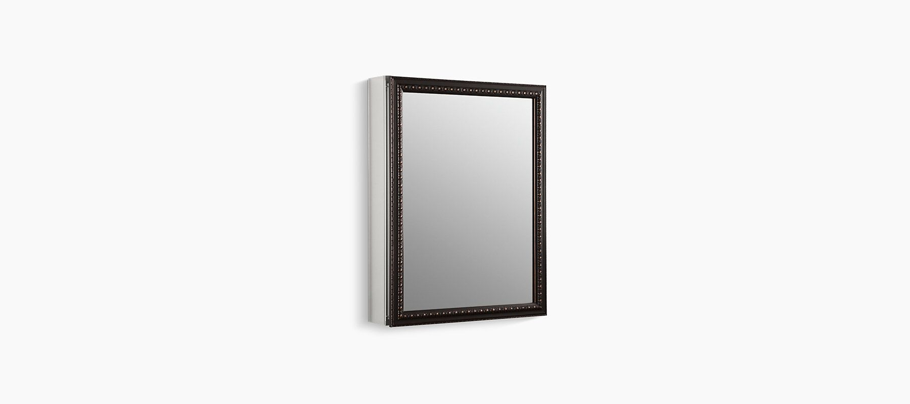 Kohler 20 In X 26 In H Recessed Or Surface Mount Mirrored Medicine Cabinet In Oil Rubbed Bronze K 2967 Br1 The Home Depot Restroom Decor Tan Bathroom Ideas Diy Bathroom Makeover