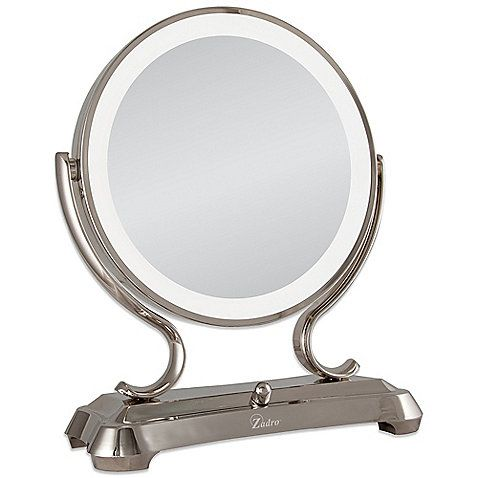 This Stylish Vanity Mirror From Zadro Offers Close Up Viewing Plus