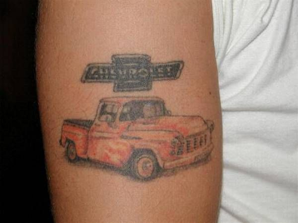 Hot rod car and truck tattoo 59 automotive tattoos for Truck tattoos designs