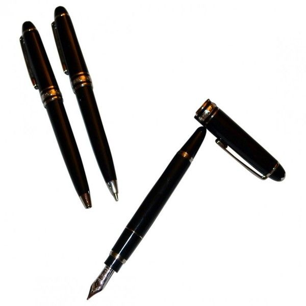 Pen MONTBLANC ($1,360) ❤ liked on Polyvore featuring home, home decor, office accessories, montblanc, black pen and montblanc pen