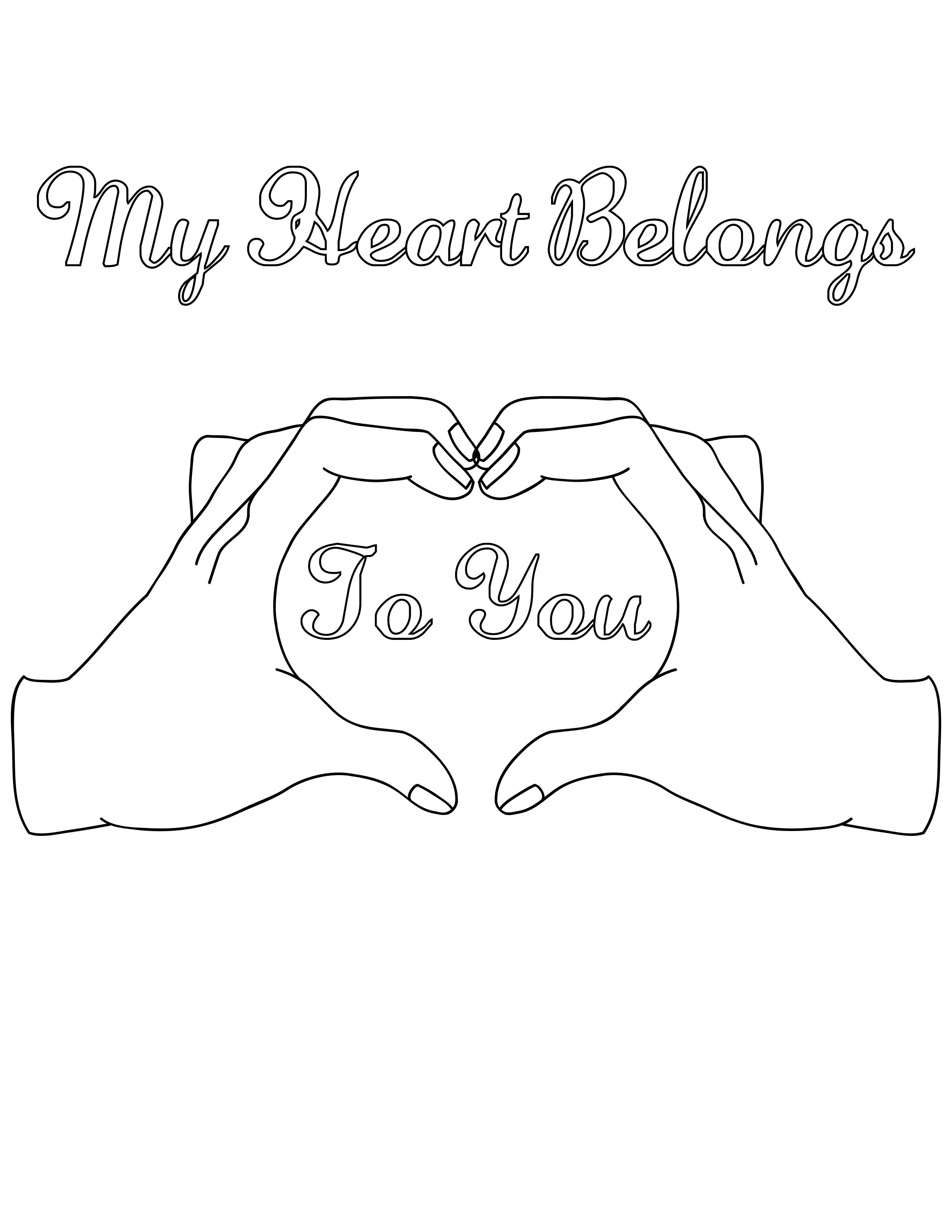 Pin By Coloring Pages For Adults On Hearts Love Coloring Pages