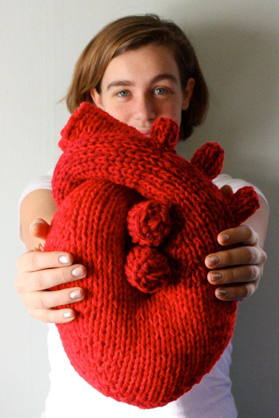 """anatomically correct """"i give you my heart pillow""""...so cute!"""