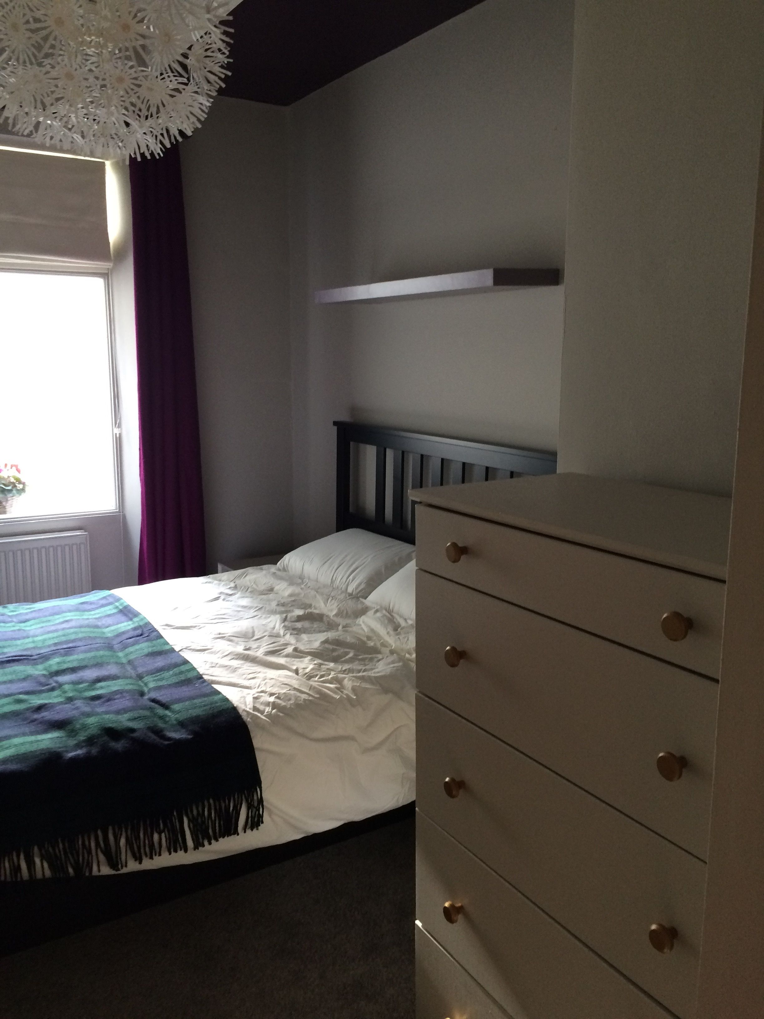 Strong White Farrow And Ball Bedroom Makeover Using Farrow And Ball Purbeck Stone On