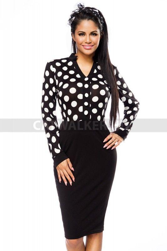 2aa97e26d0 Alkalmi ruha 14030 - fekete-fehér | Fekete alkalmi ruhák ekkor: 2019 ...