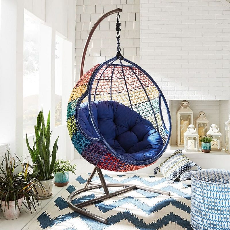 10 Outdoor Furniture Ideas To Complete Your Summer Decoration Talkdecor Hanging Chair Hanging Chair With Stand Swing Chair For Bedroom