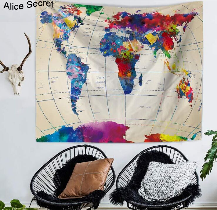 Hot printed map tapestry hippie wall hanging tapestries bedspread hot printed map tapestry hippie wall hanging tapestries bedspread beach towel yoga mat blanket table cloth gumiabroncs Choice Image