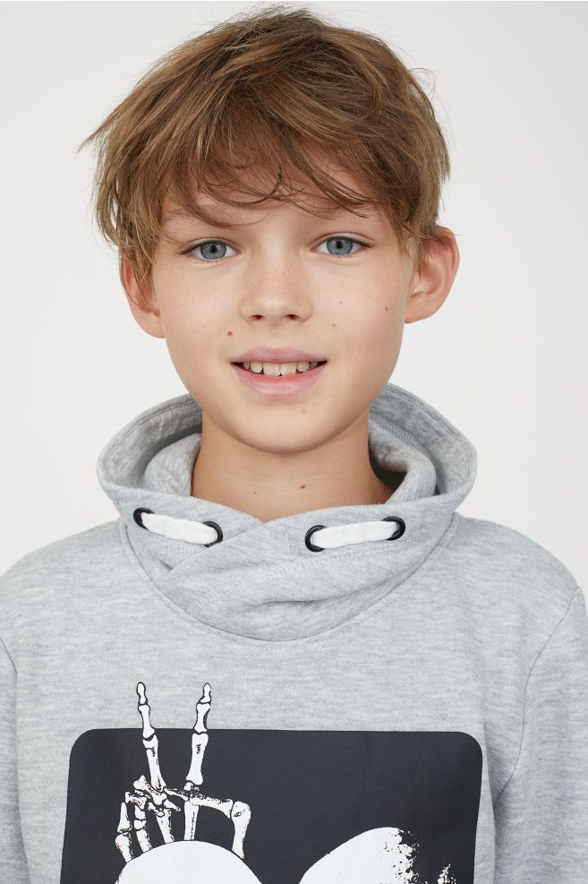H Amp M Chimney Collar Sweatshirt Gray Beautiful Children