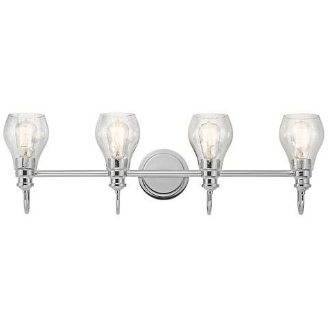 Kichler Greenbrier Wide Chrome Light Bath Light Style - Kichler 4 light bathroom fixture