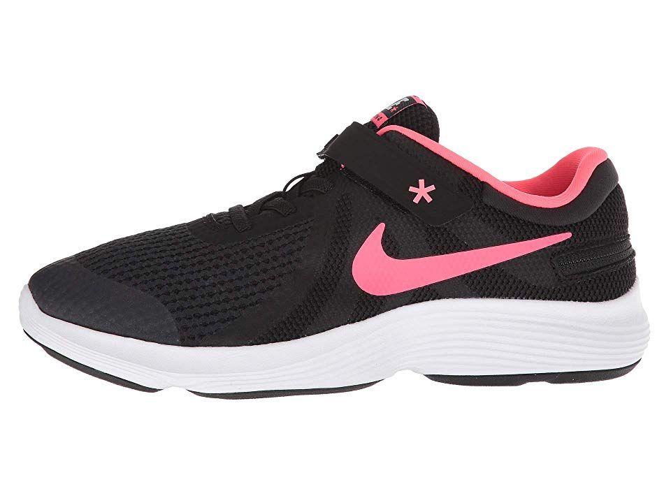 471e7cb26d8c0 Nike Kids Revolution 4 FlyEase Wide (Big Kid) Girls Shoes Black ...
