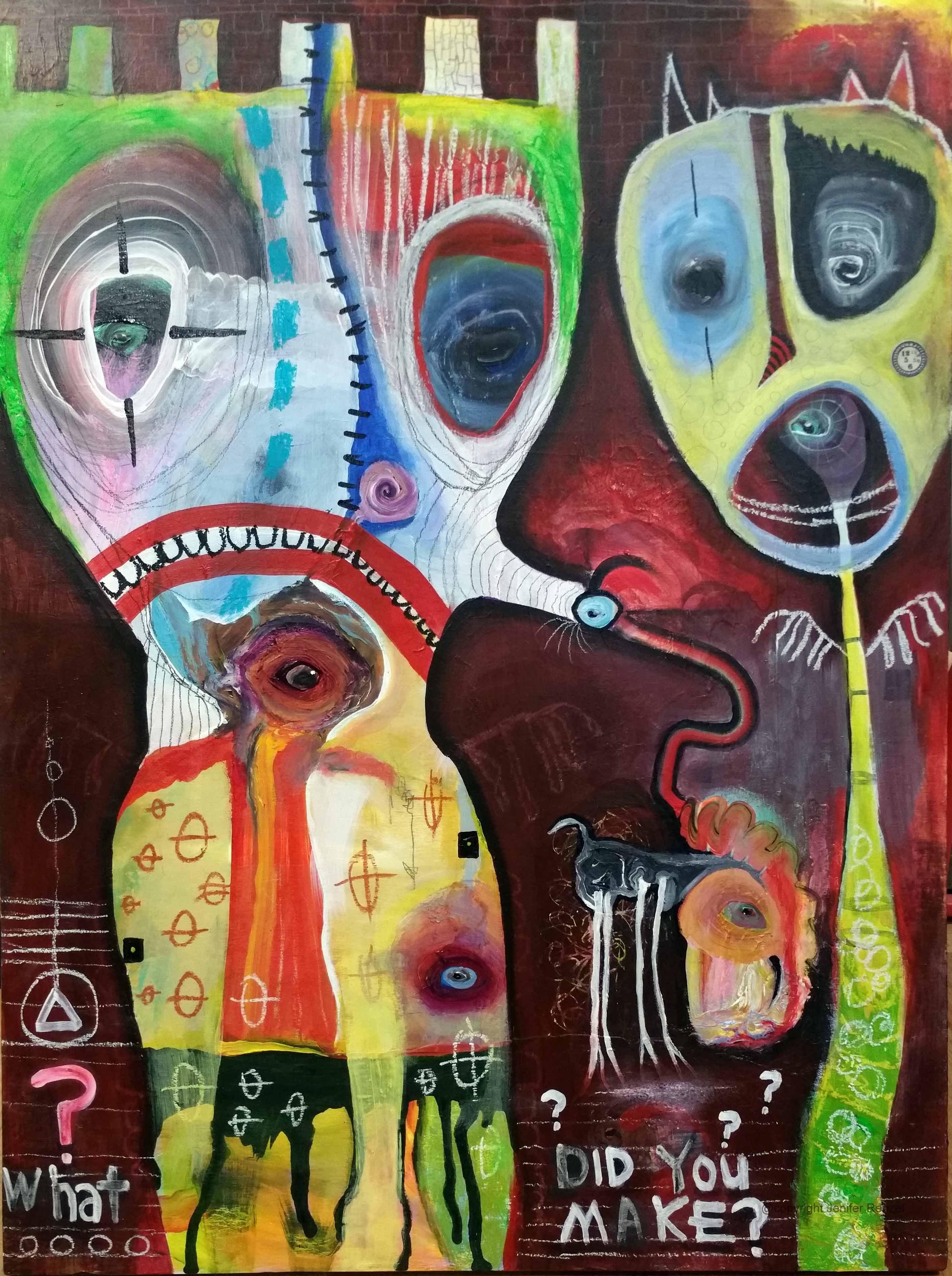 Outsider Art What Did You Make By Bugatha1 Art Outsider Art Outsider Art Painting