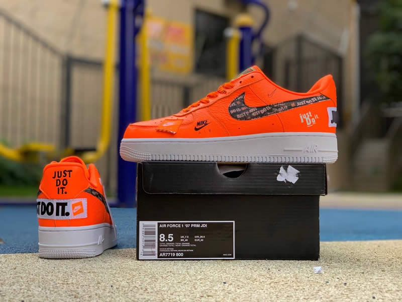 Official Images Nike Air Force 1 Low Just Do It Orange Nike Air