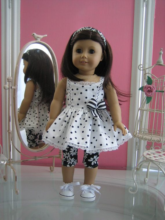 Sundress and leggings made to fit 18 inch American Girl doll