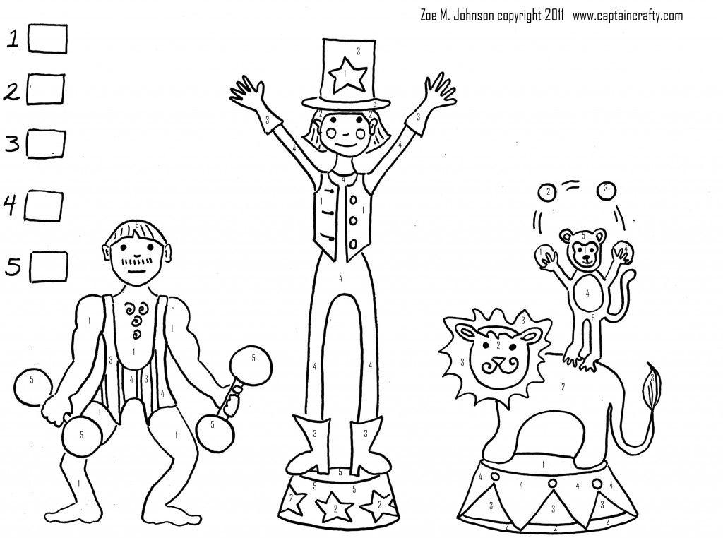 Circus Printable Crafty Captain Circus