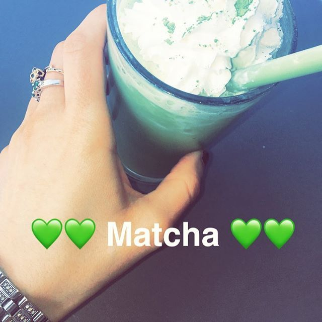 #Sunny Sundays 🌞 are for #matcha frappes 💚💚