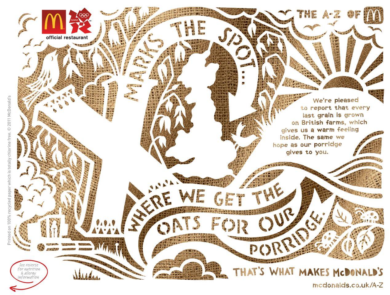 Kate Forrester #Illustration #typography #papercut #mcdonalds ...
