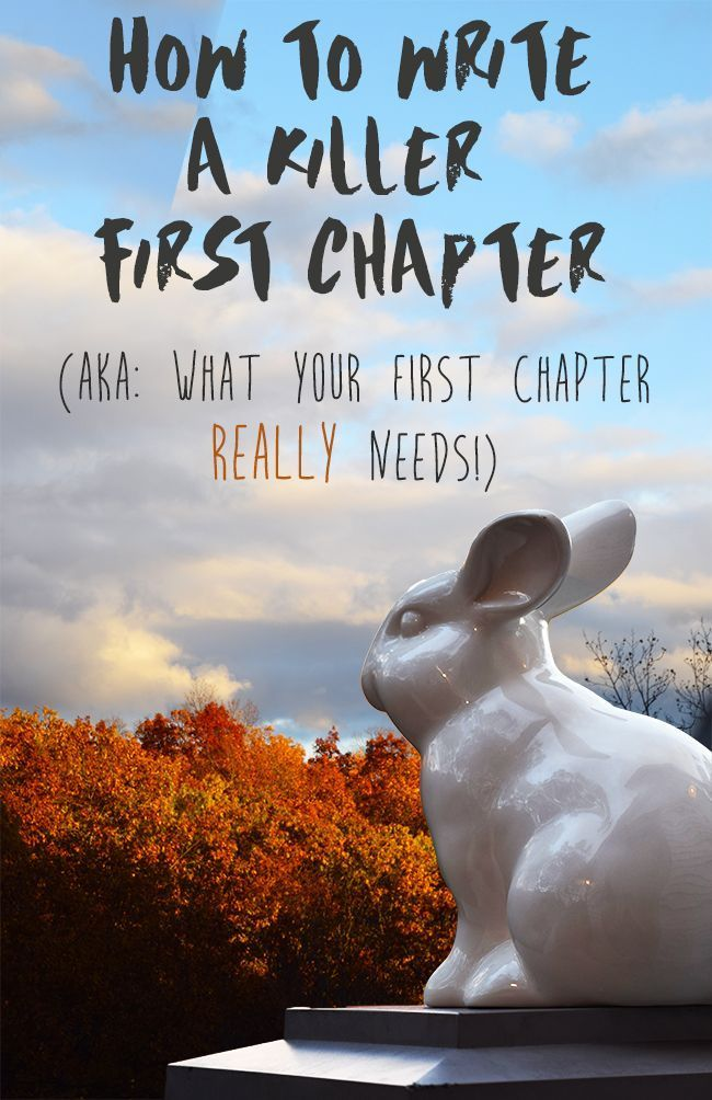 How to Write a Killer First Chapter: (AKA What You