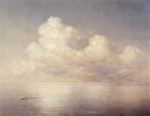 Clouds above a sea calm - Ivan Aivazovsky - Completion Date: 1889