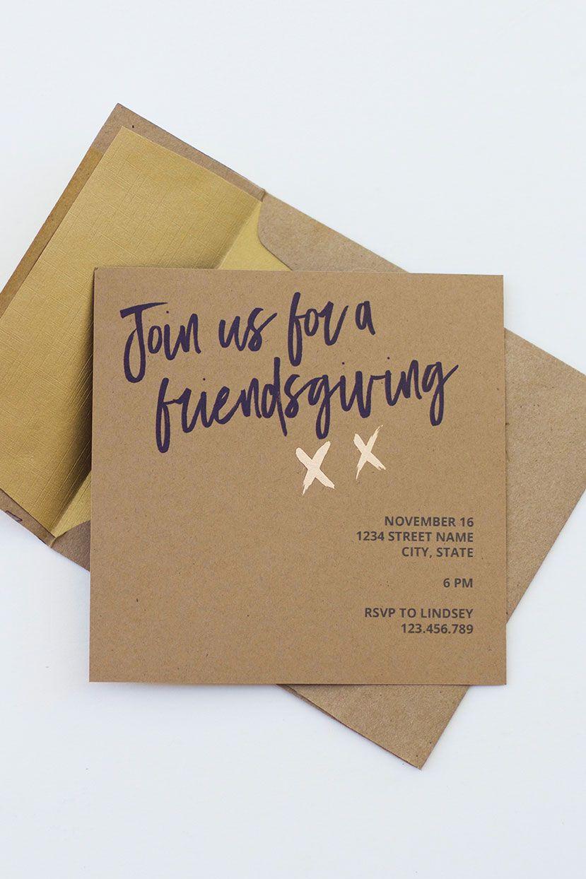 free printable friendsgiving invitation