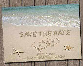 Beach Wedding Save The Date Beach Wedding Save The Date Postcard
