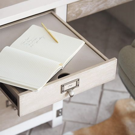 Our Telegraph Desk Features Drawers That Provide An Organized And