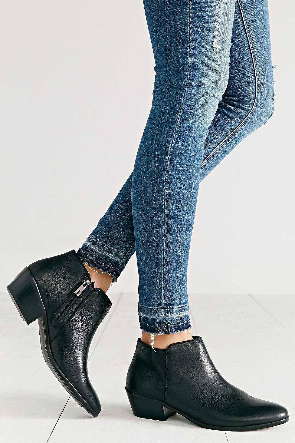 sam edelman petty leather ankle boot leather ankle boots