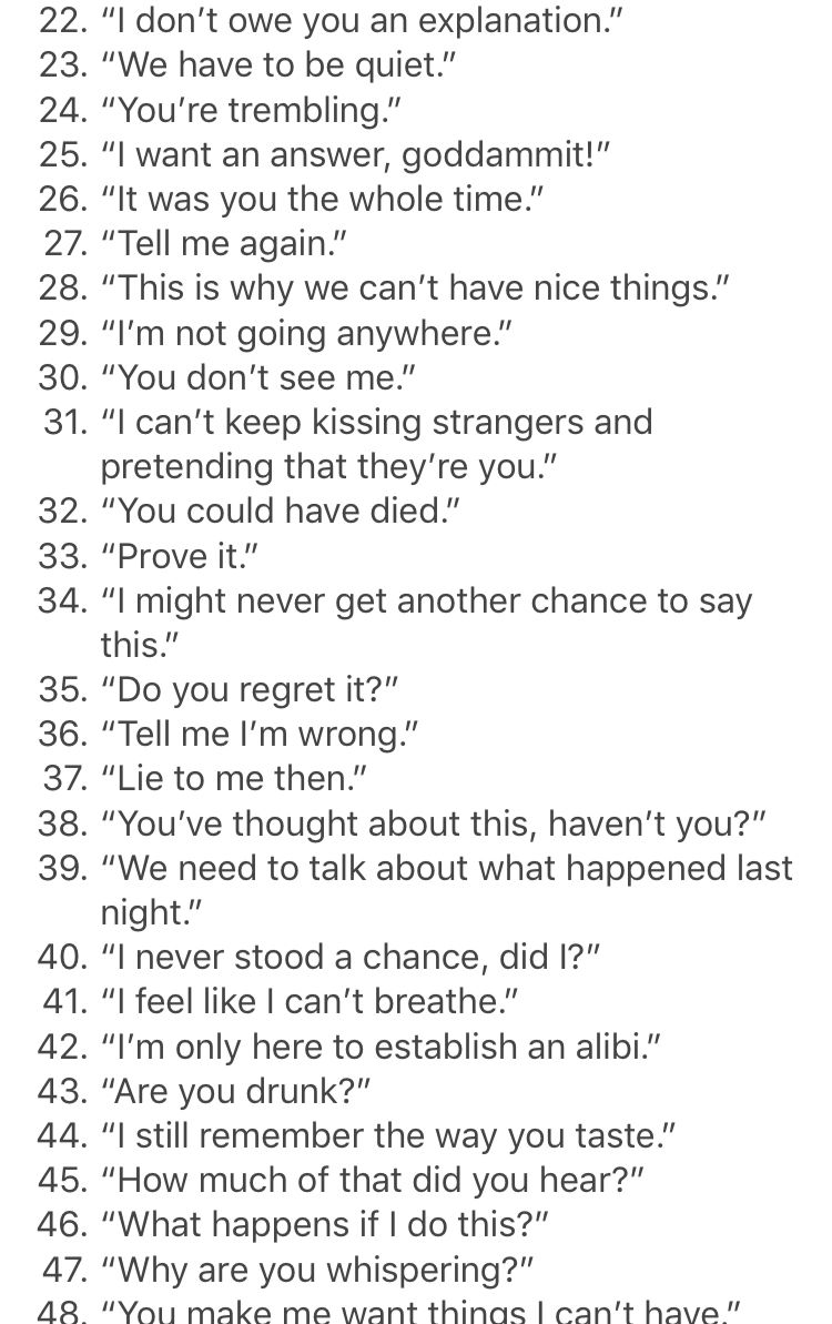 50 Dialogue Prompts from Tumblr 2/3