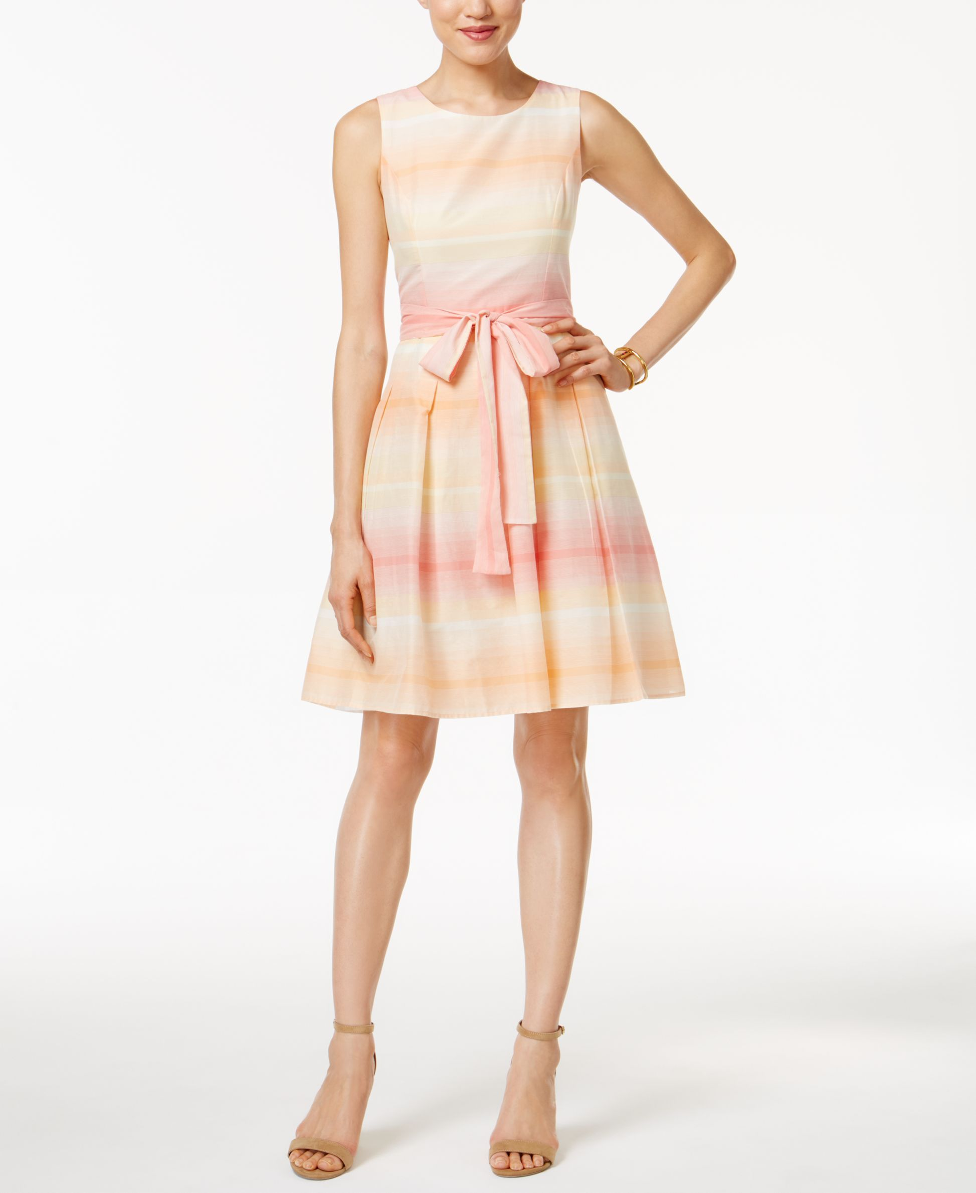 f694487fa25 Tommy Hilfiger Ombre-Stripe Fit & Flare Dress | Products | Fit flare ...