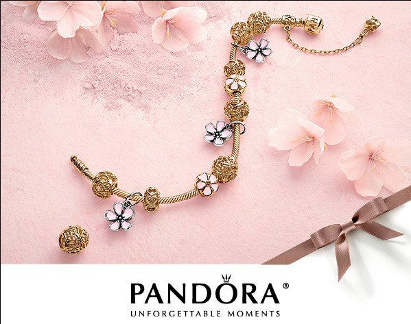 Beautiful Gold And Blossom Pandora Bracelet Www