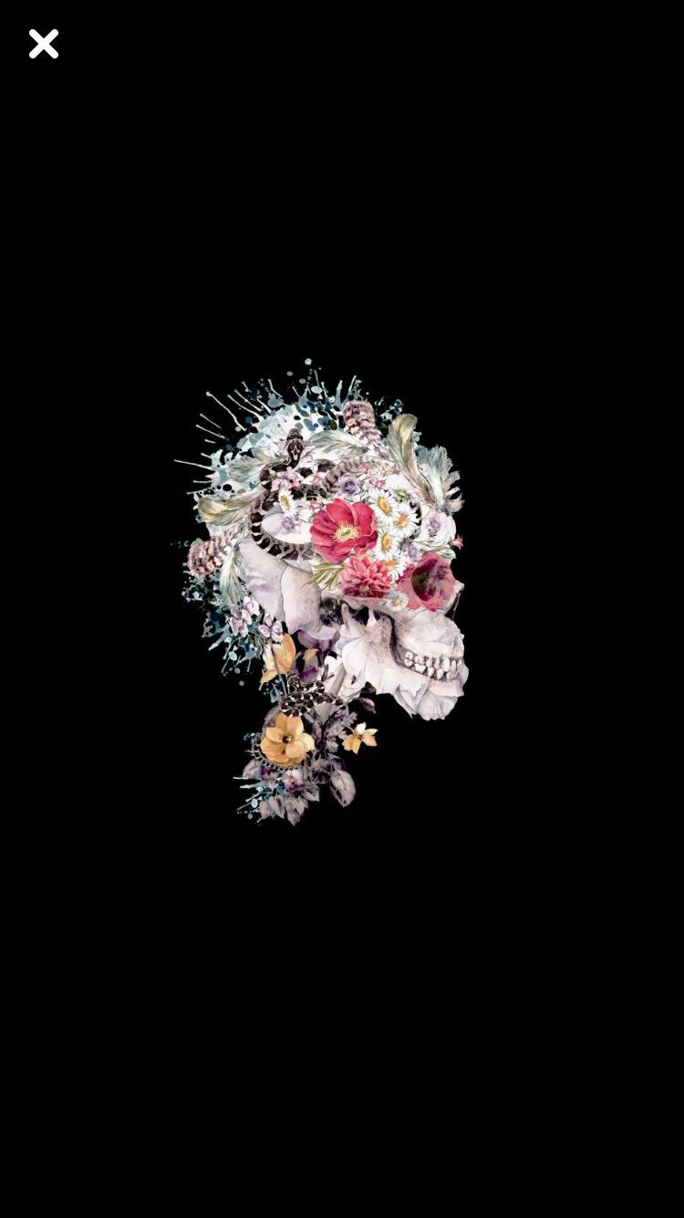 Pin By Carron Jordan Palmer On Skulls Art Wallpaper Dark