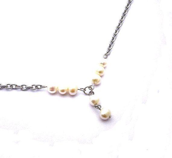 Freshwater pearl anklet cream white freshwater pearls door deBATjes