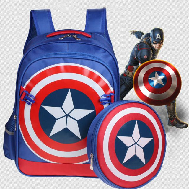 65dfc05c0c Baby Kids Toddler Captain America Shield Cartoon Backpack Schoolbag  Shoulder Bag  Unbranded