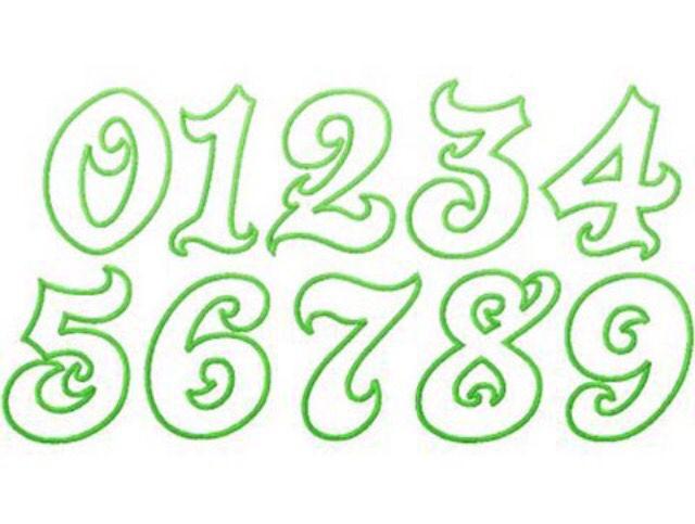 cool number fonts